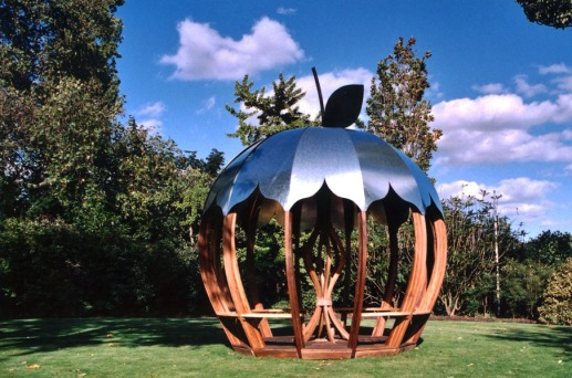 Apple shelter with metal roof