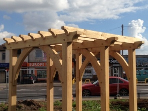 Oak traditional Pergola