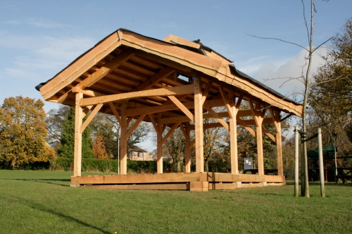 Greenroof timberframe school outdoor classroom