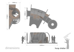 A4 Hoop shelter dimensions (2015)