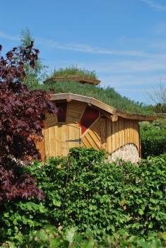 cordwood round house at columbia grange