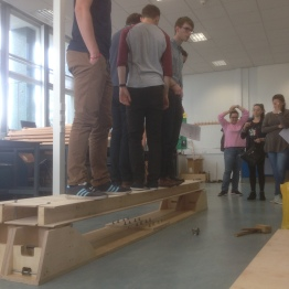 Box beam bridge being tested by Arup engineers...