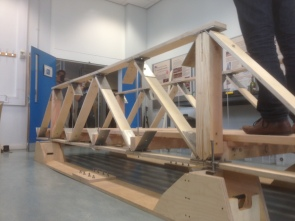 Truss bridge completed