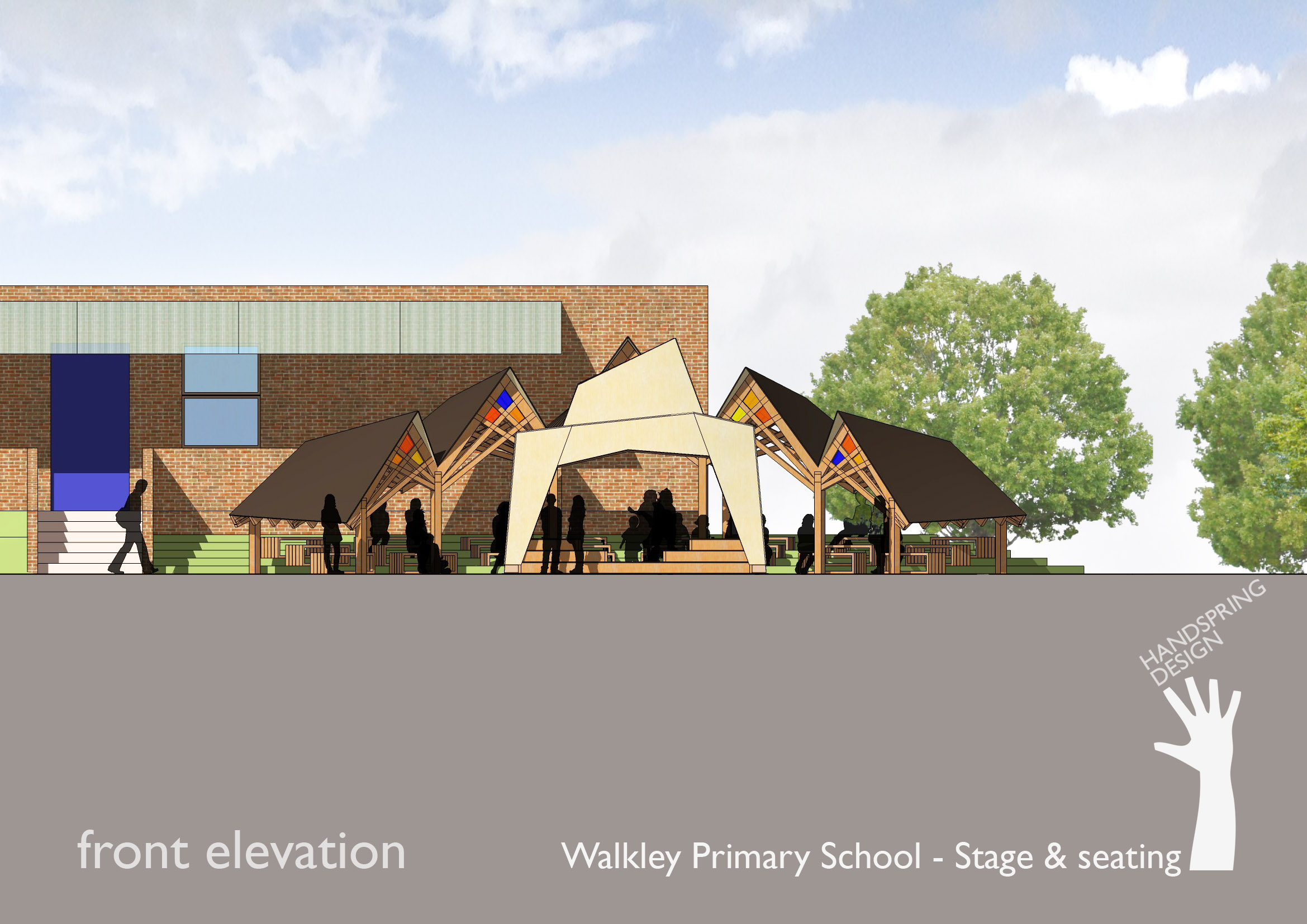 Front Elevation Designs For Schools : A walkley primary school stage seating front elevation