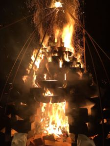 fire cone burning, stage 1