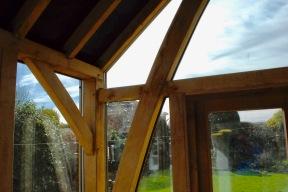 Oak Conservatory inside corner detail