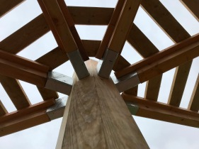 Spider Shelter - column:arm detail