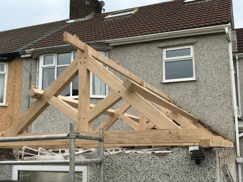 Kitchen Roof frame