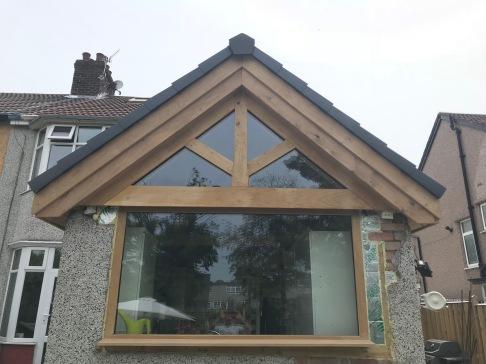 Kitchen Roof Gable kingpost truss