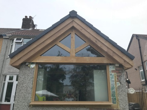 Kitchen Roof Gable kingpost truss