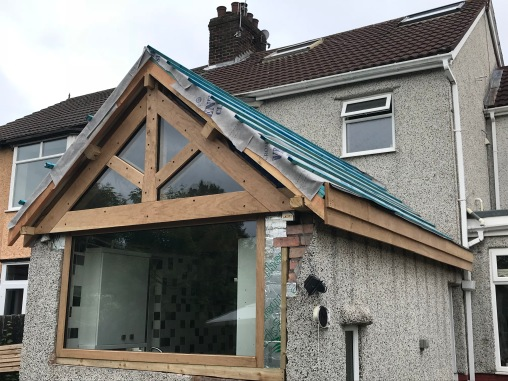 Kitchen Roof insulated and battened