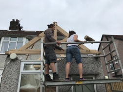 Kitchen Roof knocking pegs