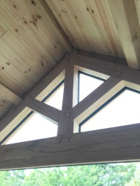 Kitchen Roof oak kingpost truss detail