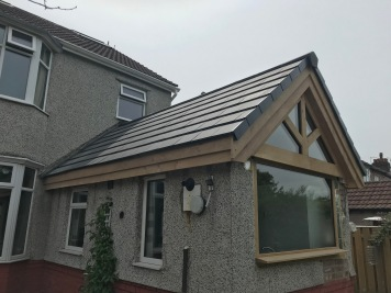 Kitchen Roof outside angle finished