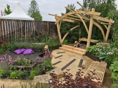 RHS Chatsworth Pergola and Bench.4