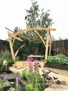 RHS Chatsworth Pergola and Bench.7