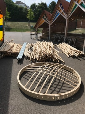 Yurt Frame components