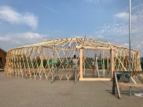 Yurt Frame from outside