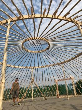 Yurt Frame middle rings from inside