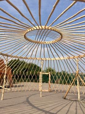 Yurt frame middle rings