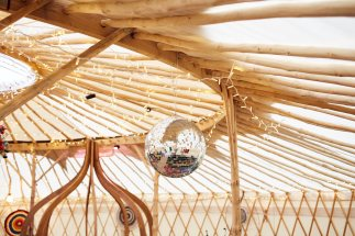 Yurt frame close up