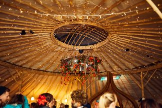 yurt inside with lights 2
