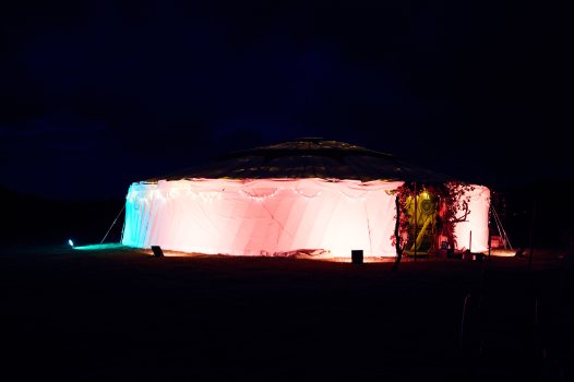 Yurt outside glow
