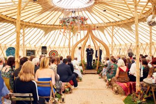 yurt wedding ceremony 1