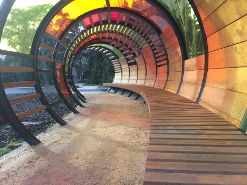 kew children's garden tunnel hoops handspringdesign