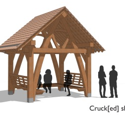 A3 Cruck[ed] shelter - front