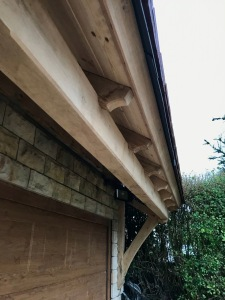 Oak Porch, rafter end detail