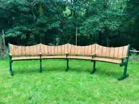 Curved Bench with Steel frame 3