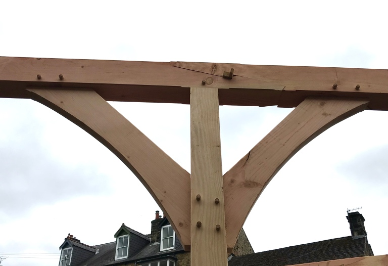 Bank House Pergola 3 joint detail